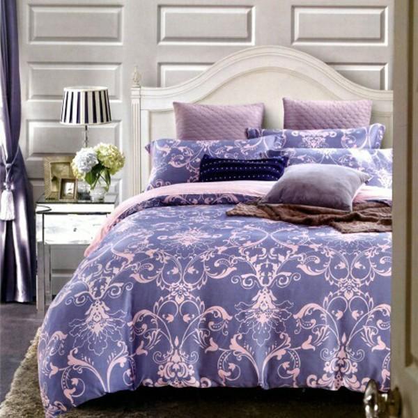 ~淡淡的愛戀藍~100 純天絲雙人加大特大薄床包兩用被四件組~高度加高35cm