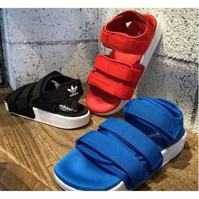Adidas adilette sandal w 全 男女沙灘涼鞋潮流魔鬼氈 黑白免