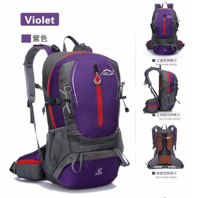 ~金8  ~ 背包登山包旅行包野營包大容量包徒步野營雙肩包 包防水包2 色大容量:40L