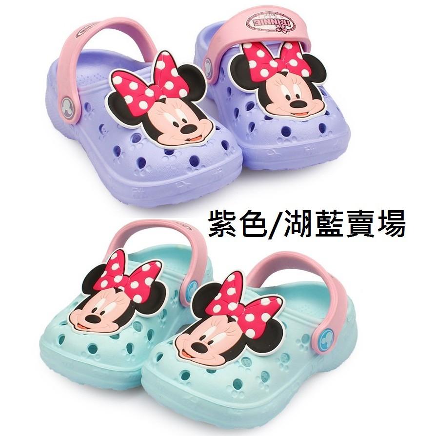 ~ ~紫湖藍賣場迪士尼 米奇米妮防滑兒童沙灘鞋洞洞鞋兒童洞洞鞋布希鞋防水涼鞋