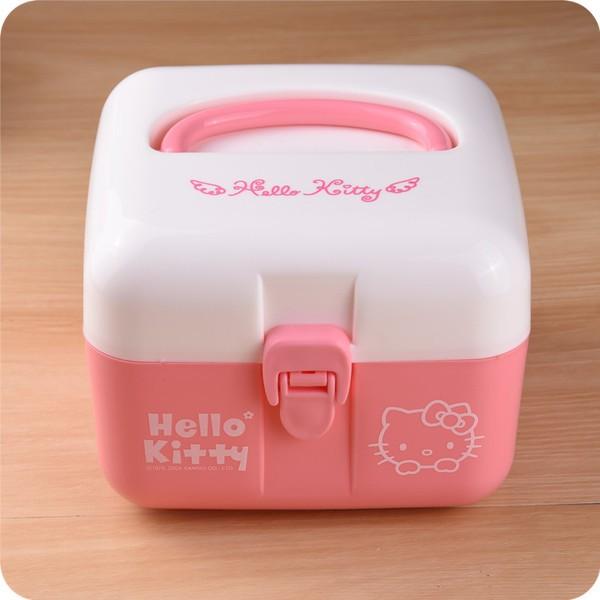 JOJO Hello Kitty 凱蒂貓大容量多 藥品置物箱存放箱醫藥箱盒8