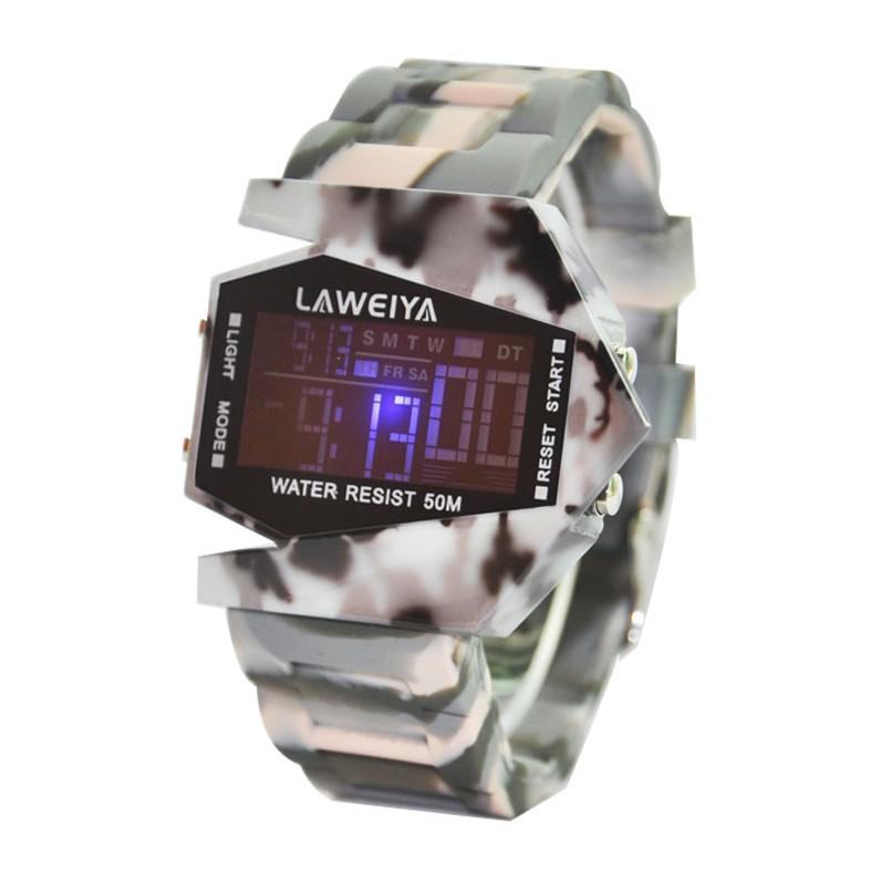 拉維亞兒童手錶 飛機男士防水LED 手錶男女孩子電子錶學生