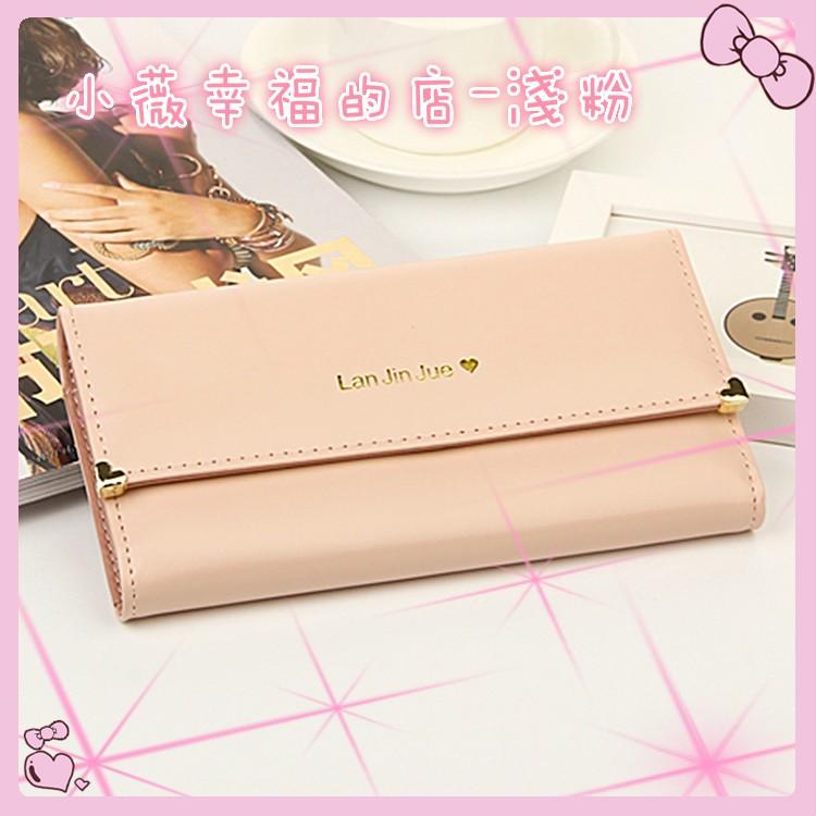 買一送一送卡套零錢包耳機包鏡子 超 超 淺粉色甜心長夾錢包錢包女錢包錢包女長夾錢包女皮包零