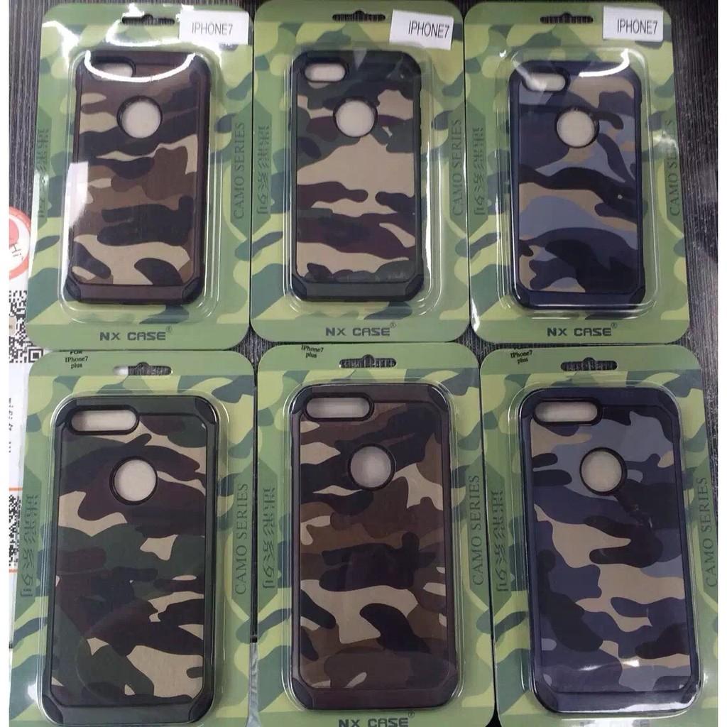 I PHONE7 PLUS 二合一迷彩軍風矽膠軟殼硬殼背蓋耐摔防震保護套保護殼手機殼