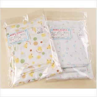 高密度雙層紗布8 件套、嬰幼兒口水巾、浴巾、洗澡巾八件套