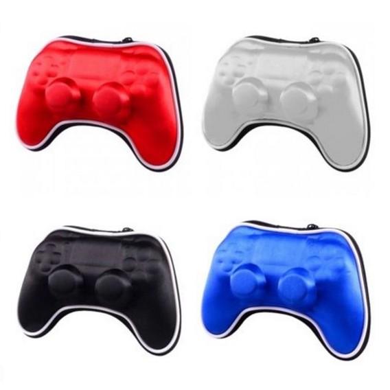 PS4 手把包ps4 收納包PS4 無線手把保護包拉鍊包硬包防撞包保護殼ps4 手柄包銀色