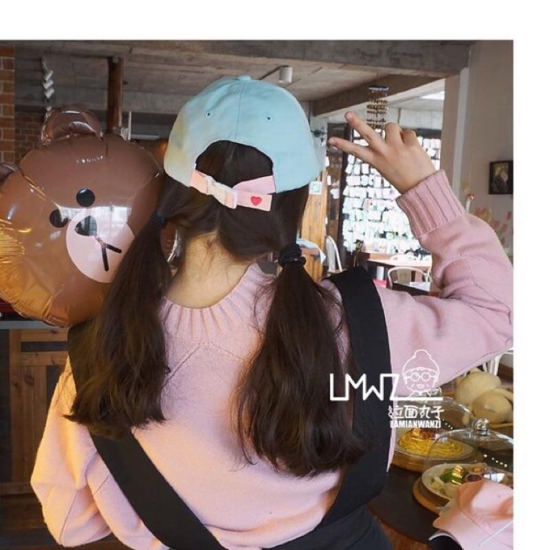韓國原宿街拍嘻哈刺繡字母爱心女棒球帽潮