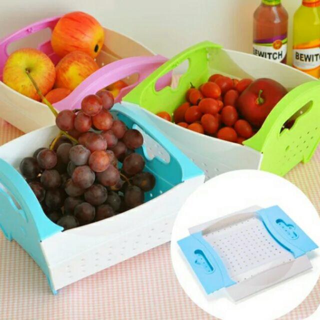 可摺疊蔬果瀝水籃洗菜盆好收納廚房 小物