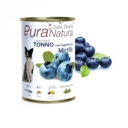 普拉狗~藍莓主食罐~義大利無榖草本狗罐,歐盟有機 ,PURA 狗Natura 狗主食