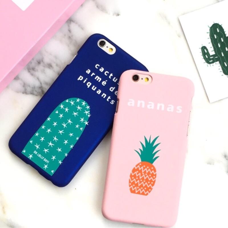 簡約系列鳳梨仙人掌iphone6 iphone6plus 手機保護套手機殼