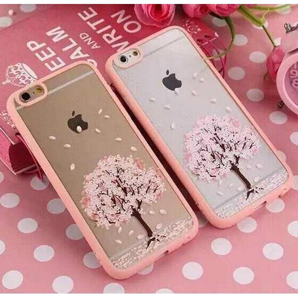iphone6 6s 櫻花系列透明軟殼iphone6s 櫻花軟殼手機殼防塵塞透明