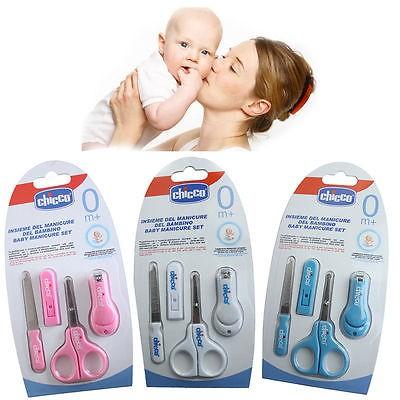 Chicco 奇哥嬰幼兒 指甲剪嬰兒修甲套裝指甲剪刀母嬰用品嬰兒 新生兒安全指甲鉗子磨甲搓