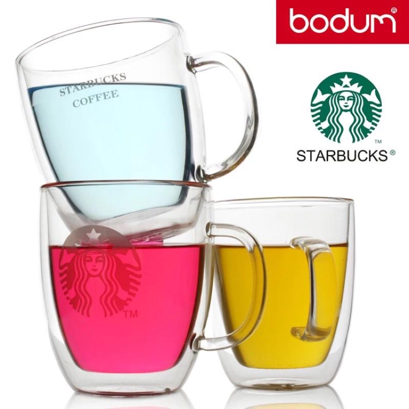 星巴克Starbucks 雙層杯隔熱杯玻璃水杯牛奶杯咖啡杯聖誕節