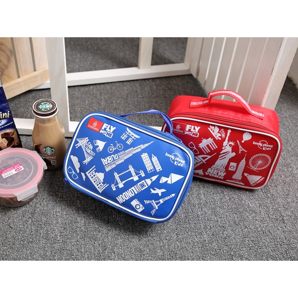 PU 立體手提保溫餐袋耐熱玻璃保鮮提袋便當提袋大容量保鮮盒提袋 樂扣Glasslock F