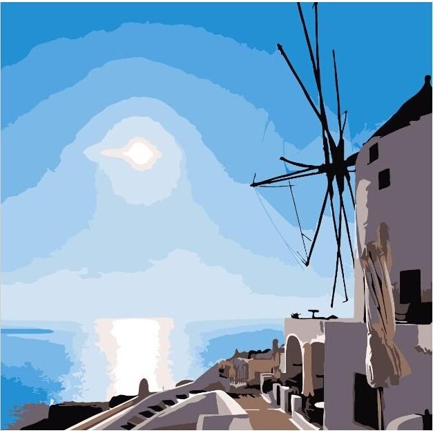 ArtLife 藝術 ~DR042 ~希臘愛情海系列4_DIY 數字油畫彩繪20 20cm