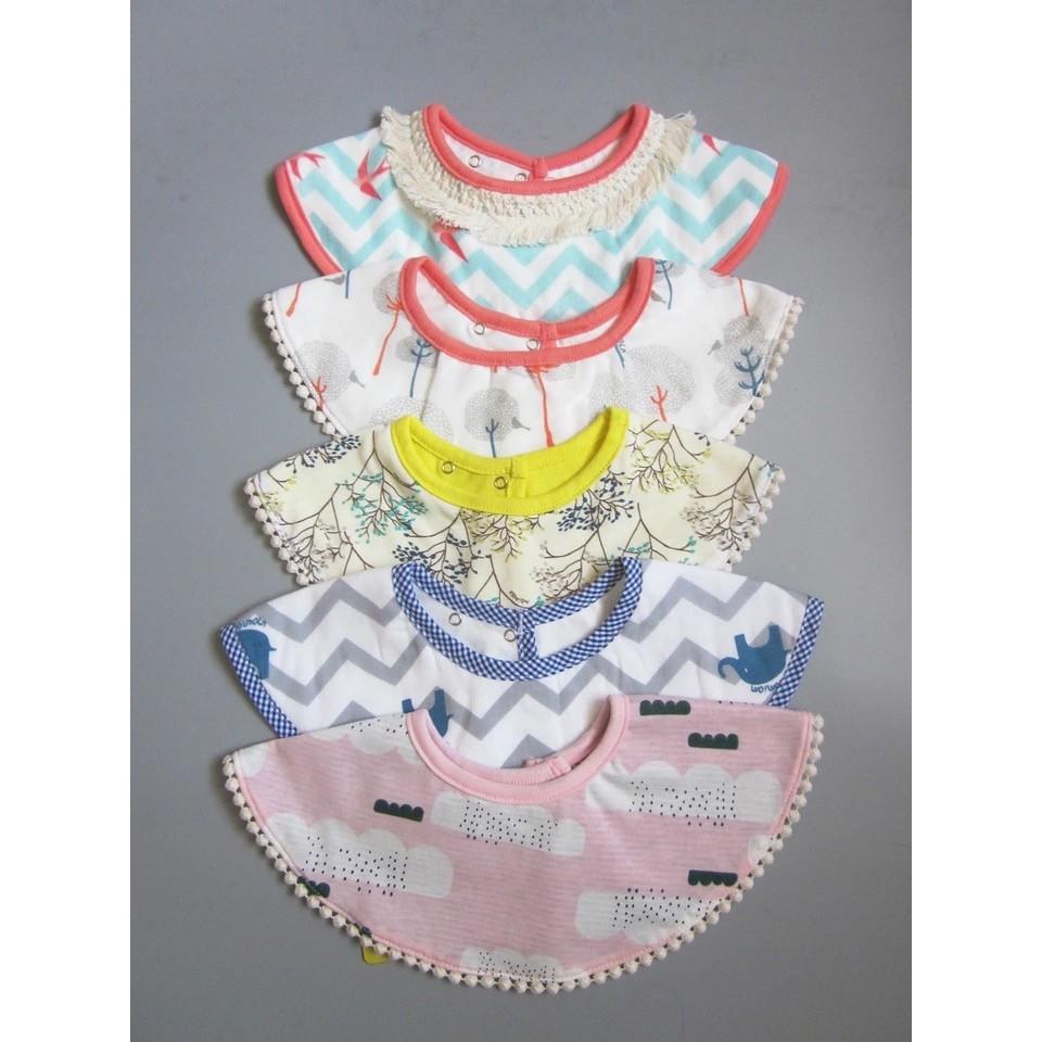 多款 外貿韓單寶寶圓形旋轉圍兜口水巾假領共七款B0001