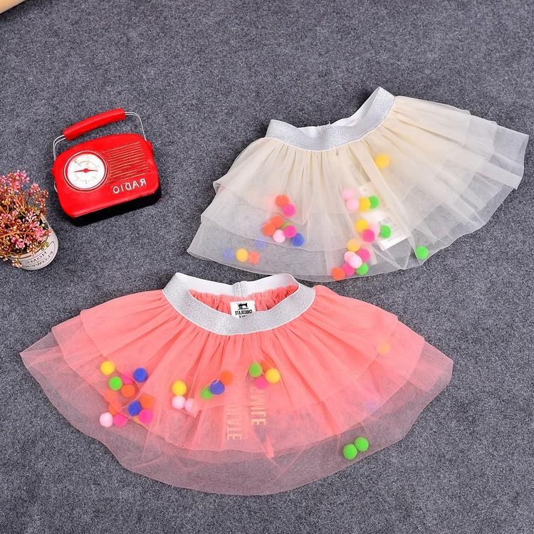 2016 夏 韓國東大門可愛立體彩球蛋糕層層蓬蓬紗裙 短裙