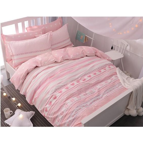 ~B E D ~夢幻公主純棉系列床包4 件組單人雙人加大床單被套枕套I0107