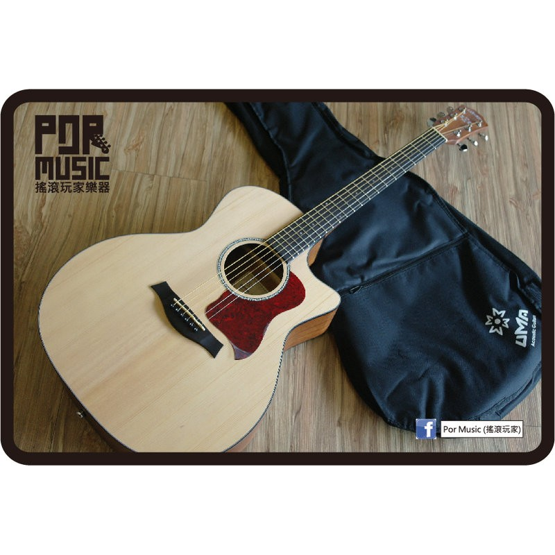 ~搖滾 樂器~ UMA 雲杉面板GA 12 EXP 購買再送9 大好禮民謠吉他缺角型木吉他