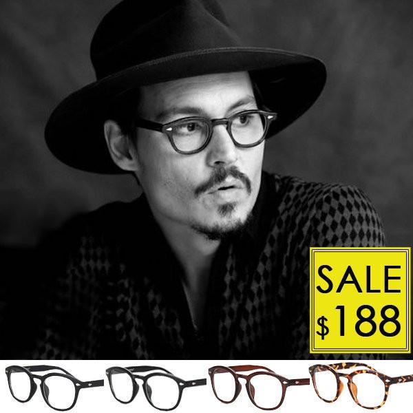 OT 眼鏡框‧台中眼鏡帽子 ‧潮牌復古圓框粗框 圓框平光眼鏡‧余文樂‧強尼戴普‧方大同‧亮