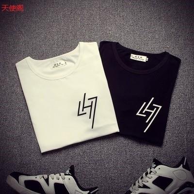 EXO 鹿晗LH7 同款衣服BF 原宿風 T 恤男女款情侶裝短袖學生班服潮