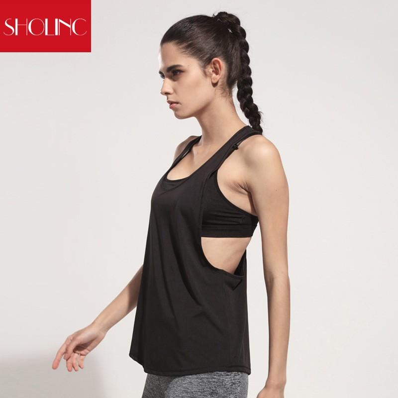出貨大碼 罩衫心機性感美背运动健身速干背心寬鬆大背心显瘦大低领无袖跑步性感罩衫