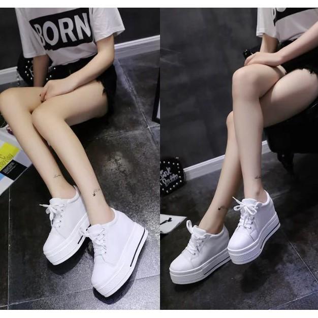 最  單鞋女高跟2016 春  厚底松糕帆布鞋魔術貼休閒內增高鞋