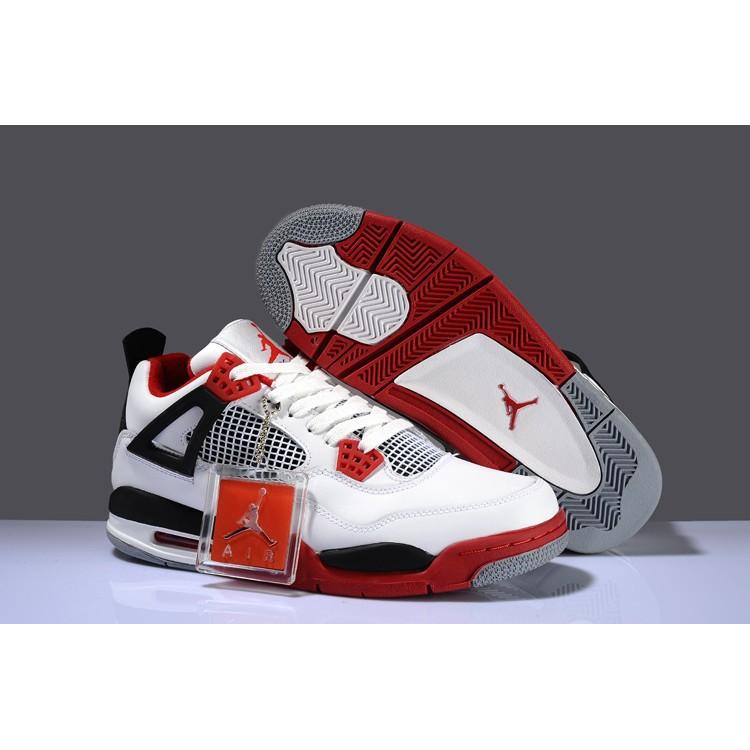 NIKE AIR JORDAN 4 RETRO 喬丹4 代AJ4 籃球鞋潑墨黑灰白配色男款