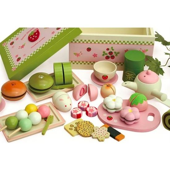 Mother Garden 木製野草莓日式抹茶點心盒
