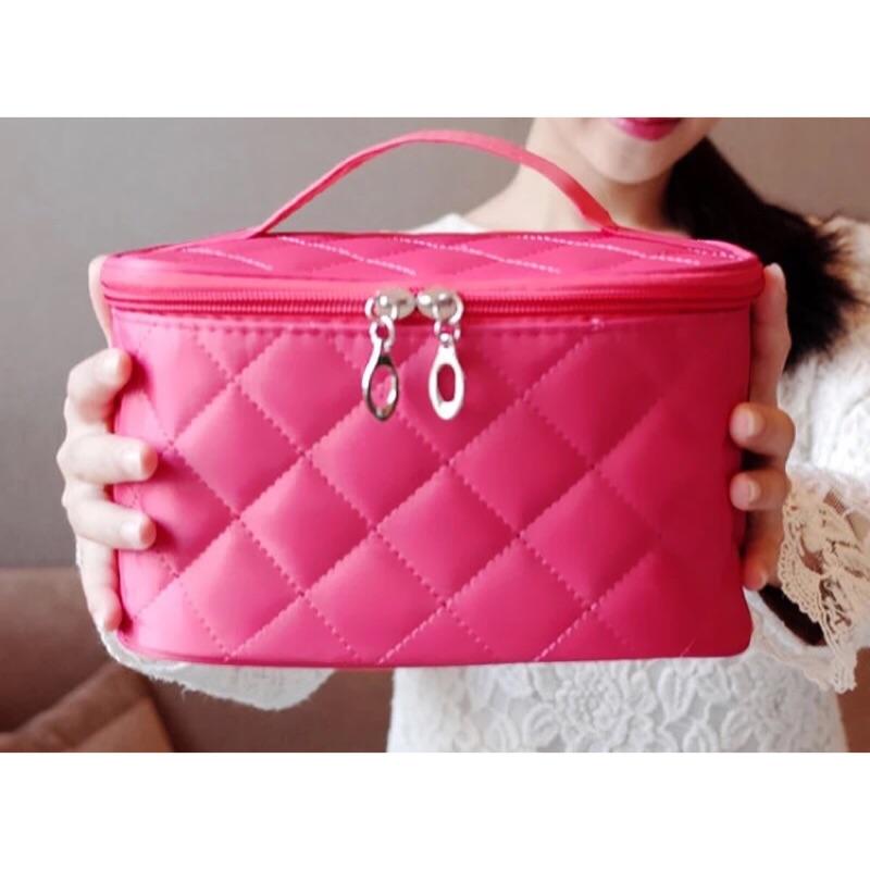 韓國 手提化妝包收納包 化妝手提袋大容量可摺疊女包