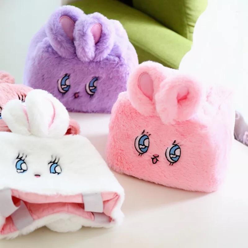 WEGO 萌兔子絨毛紙巾套衛生紙套