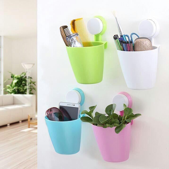 ~成毅小舖~新型吸盤式橢圓形置物架衛浴廚房皆可 顏色粉紅色白色綠色藍色