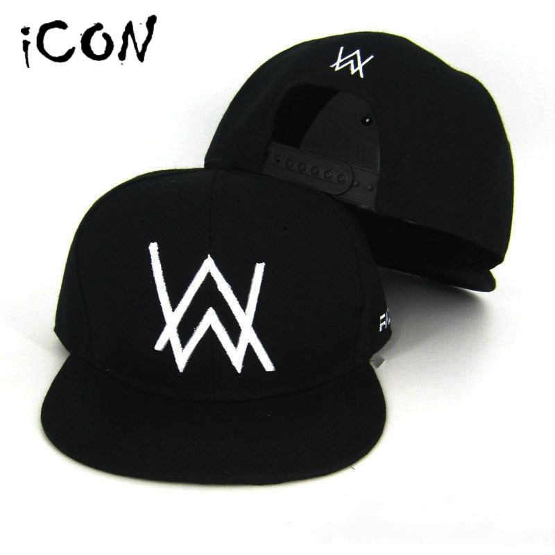 Alan Walker 棒球帽DJ 艾倫沃沃克同款鴨舌帽街舞嘻哈帽男帽女帽夜店穿搭 黑白棒