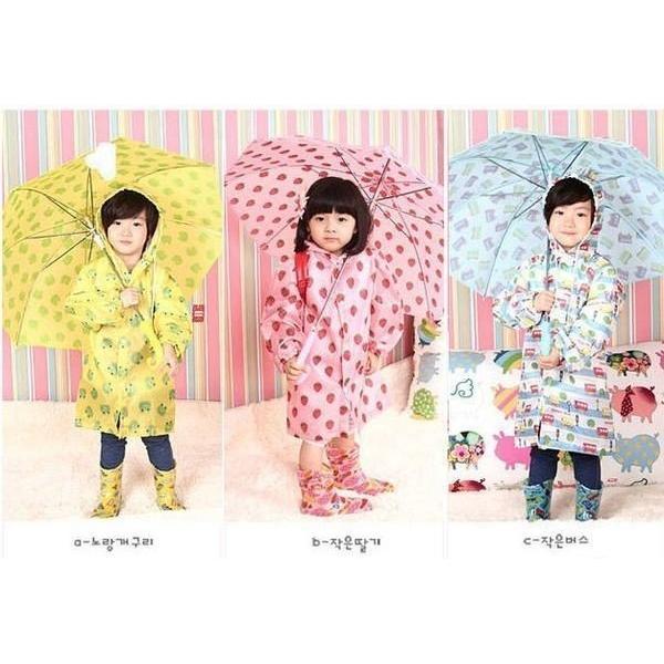 韓國可愛卡通兒童雨衣超卡哇依滿版車車草莓兒童雨衣LINDA 兒童雨衣