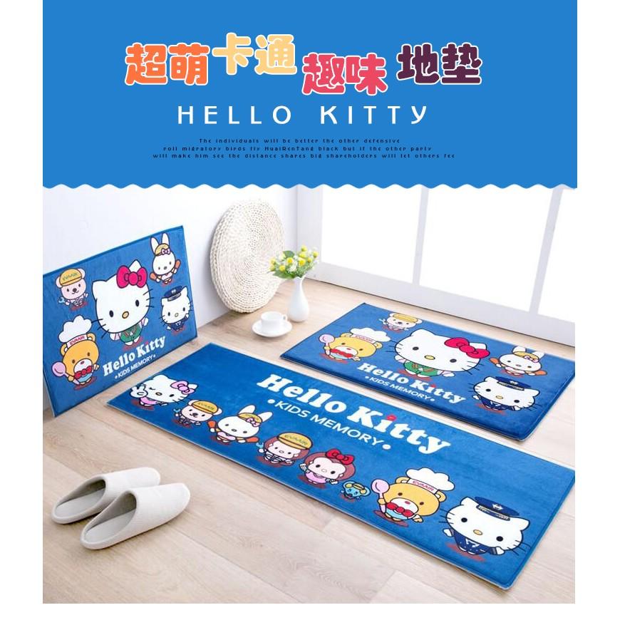 日式hellokitty 飄窗墊衛生間防滑腳墊長條地墊進門墊臥室地毯卡通