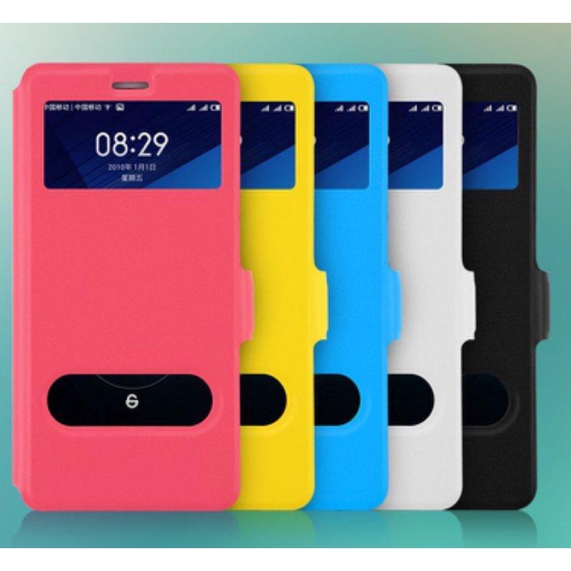 磁扣雙視窗亮色皮 於富可視Infocus M320 M320e 皮套可立式內為 果凍套訂單