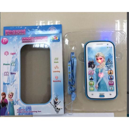 ( 〉實惠版講英語故事帶冰雪投影5D 冰雪奇緣手機學習機冰雪公主~粉紅色~