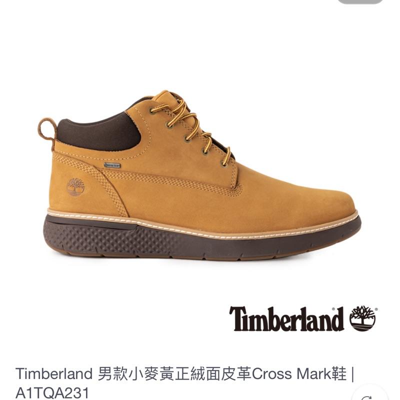 Timberland 男款小麥黃正絨面皮革 cross mark 鞋 us9可交流雷根鞋