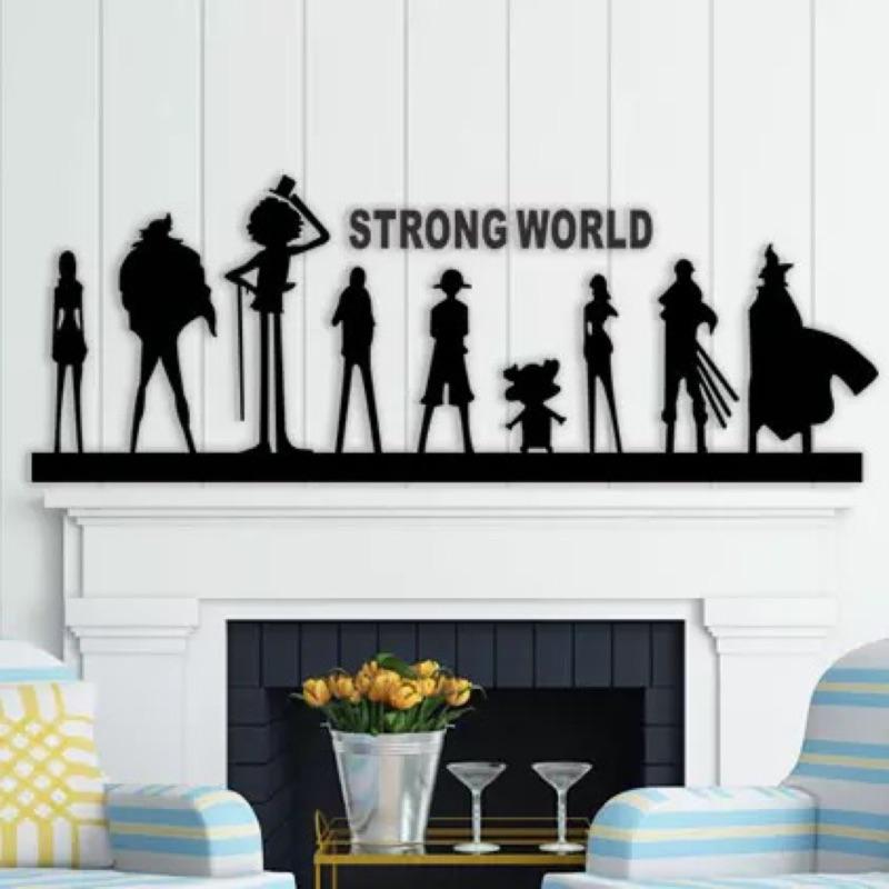 海賊王航海王魯夫索隆喬巴娜美3D 立體水晶壓克力牆貼壁貼臥室床頭兒童房民宿裝飾咖啡廳