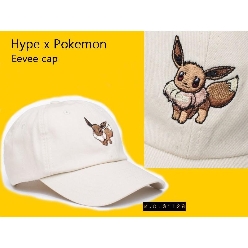 M O S1126 英國Hype x Pokemon 寶可夢聯名Eevee 伊布米色棒球帽