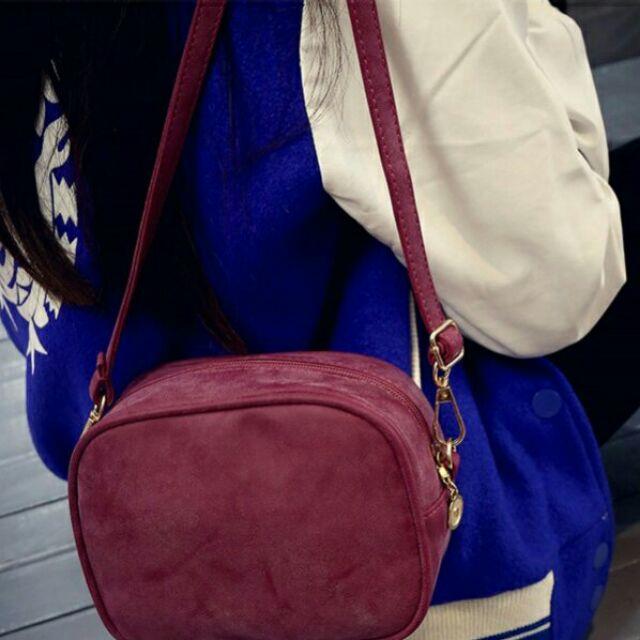 殿舖屋 磨砂軟皮迷你小包小方包單肩包斜挎包斜背包包包皮包側背包