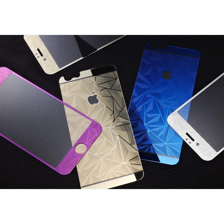 i phone6 全屏3D 菱形電鍍鋼化玻璃膜蘋果手機鋼化膜前後一套