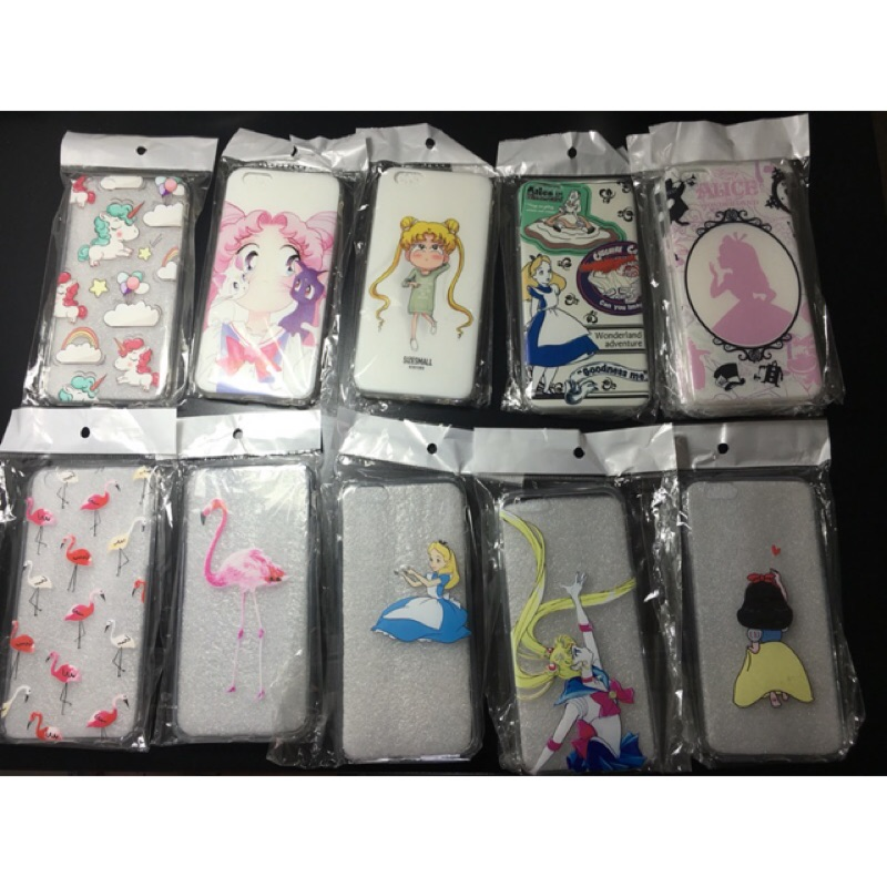 ~ ~6 6s 手機殼20 幾款iphone 軟殼愛麗絲夢遊仙境月光仙子史迪奇紅鶴皮卡丘大