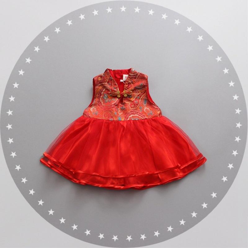 ✨中國風大紅洋裝✨抓周生日過年