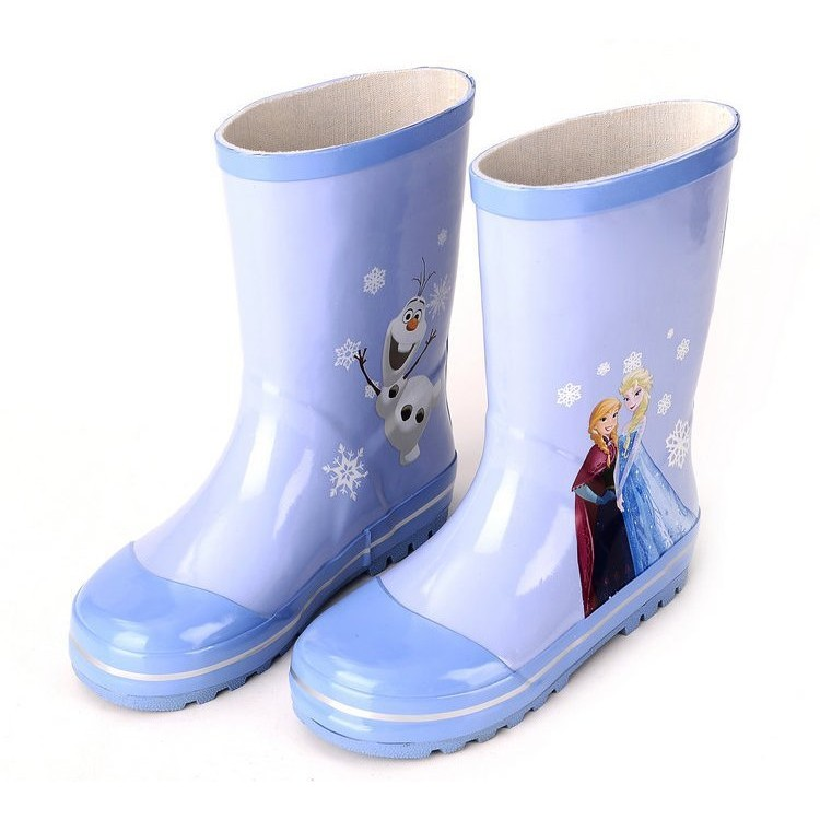 廠商直銷高檔冰雪奇緣公主雨鞋兒童雨鞋中筒兒童雨鞋防滑雨鞋腳長16 24cm