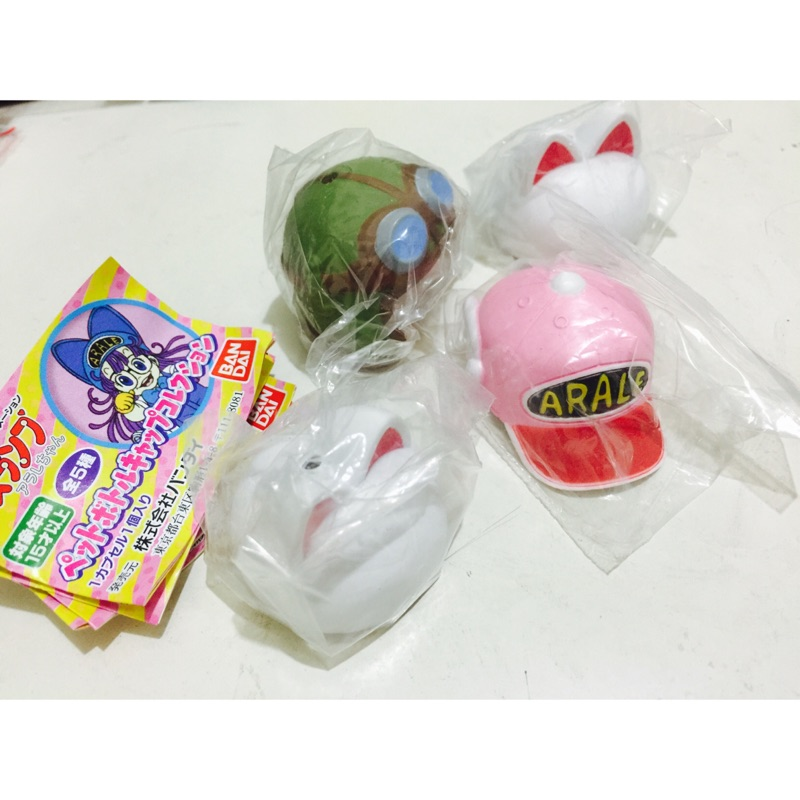 ~Eudora 扭蛋~阿拉蕾帽子瓶蓋轉蛋絕版收藏杯緣子玩具