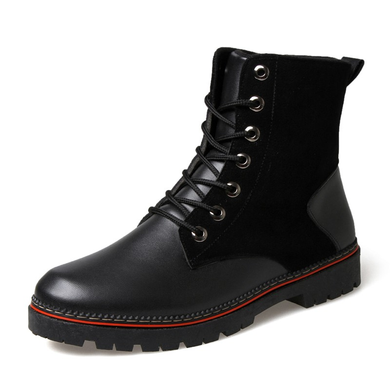 2016  軍靴男士鉚釘 特種兵男鞋男靴子短靴街舞鞋 馬丁靴皮靴