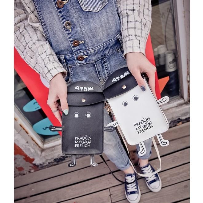 2016 年韓國東大門 機器人手機包單肩斜挎包
