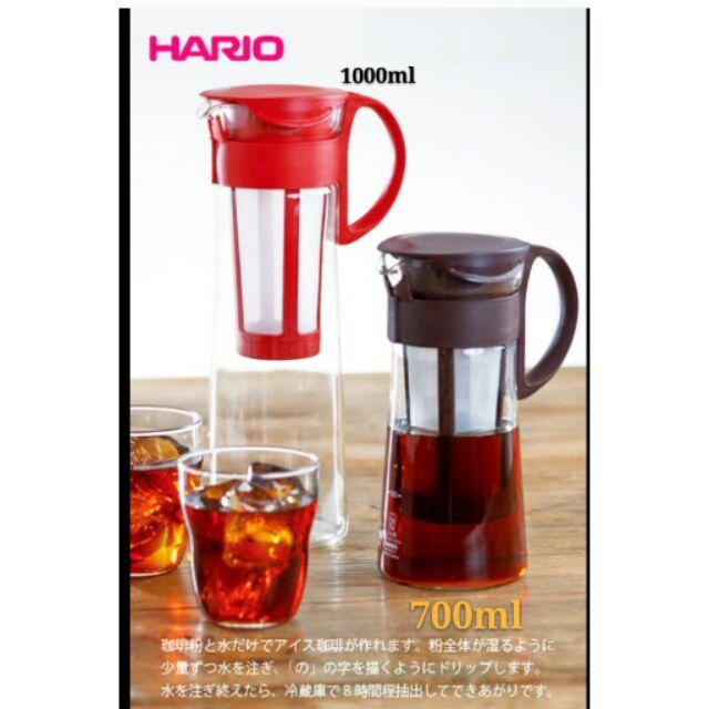 HARIO 玻璃冷水壼咖啡壼8 杯用1000ml MCPN 14R MCPN 14CBR