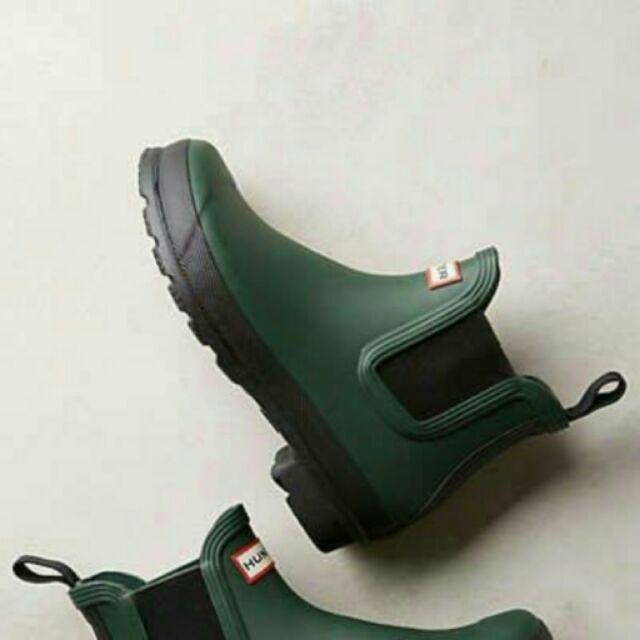 大降價HUNTER 墨綠色踝靴